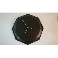 Octagon Carbon Fiber WallClock